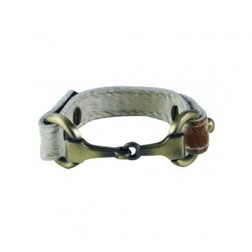 """ANNA"" Snaffle Bracelet Hide"