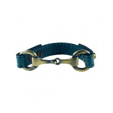 Anna Snaffle Bracelet Blue