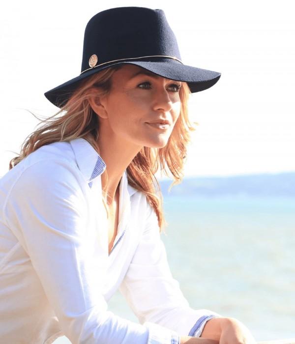 Annabel Brocks Bugsy Wool Hat Navy