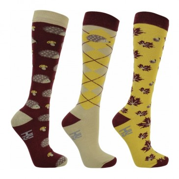 HyFashion Harry Hedgehog Socks (pack of 3)