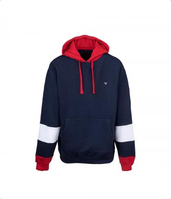 Kingsand Hoodie Navy/Red/White