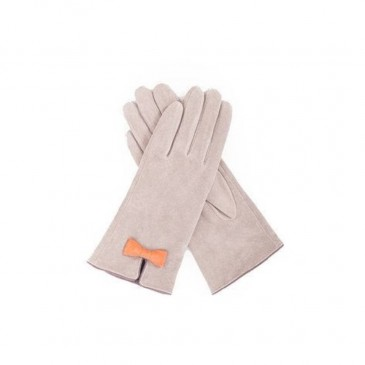 Suede Glove Nicole Stone and Tangerine