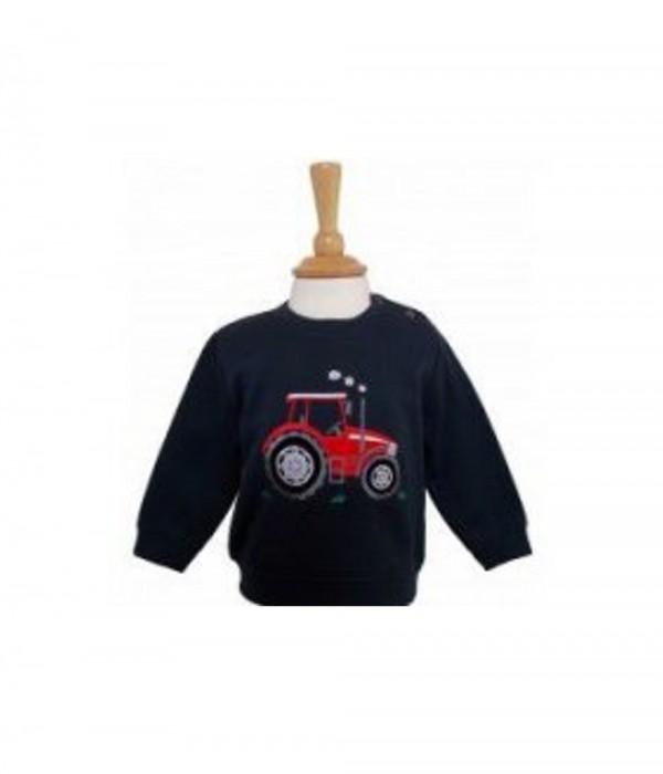 Big Red Tractor Baby Sweatshirt Navy