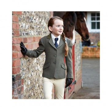 Dublin Cubbington Child Tweed Jacket Green