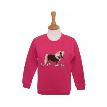 Flora Child Sweatshirt Fuchsia