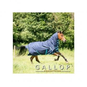 Gallop Trojan C350′ Navy/Sky Combo Turnout 600d 350g