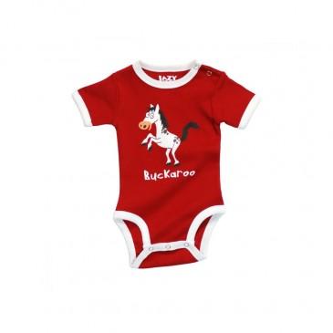 LazyOne Unisex Buckaroo Baby Vest