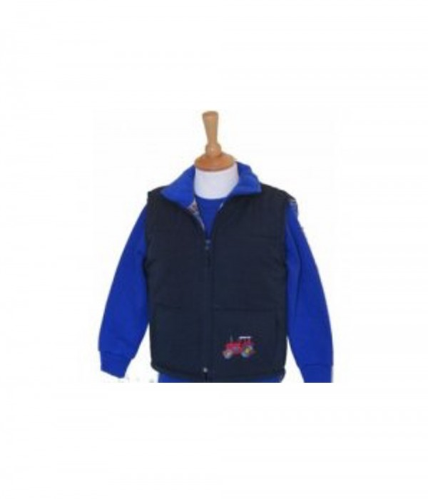 Tractor Padded Child Gilet Navy