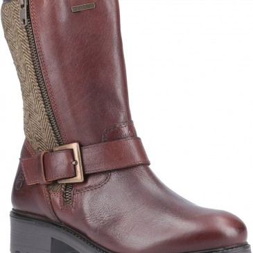 Cotswold Twigworth Mid Calf Zip Boot Brown