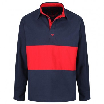 Whale Of A Time Padstow Deck Shirt Navy/Red