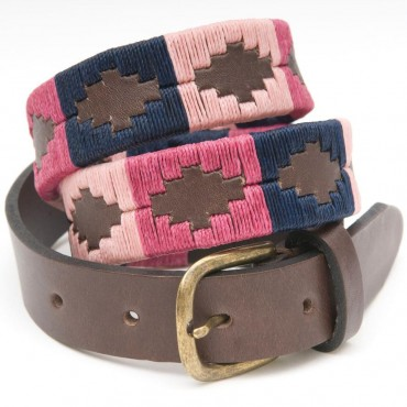 Pioneros Narrow Belt Berry/Navy/Pink